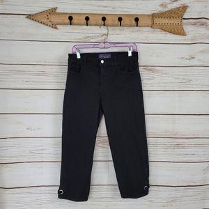 NYDJ | High Rise Stretch Capri Crop Jewel Pants